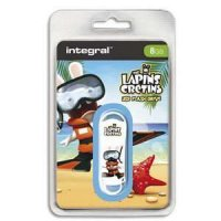 Integral Cle USB 2 The Lapins Cretin Plage 8 Go