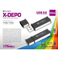 CLE USB 3.0 PLATINET X3-DEPO 256Go NOIR (42287) 175Mb/s