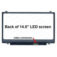 Dalle 14 LED - Slim EDP 40 pins - 1366x768 - Conn Droit - Brillant (N140BGE-L43)